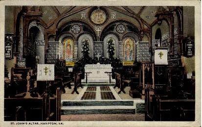 St. John's Altar - Hampton, Virginia VA Postcard