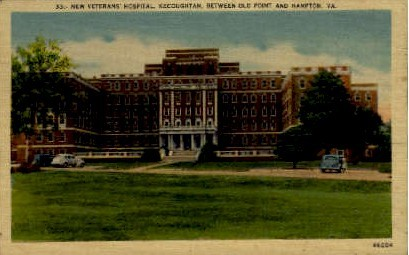 New Veterans' Hospital - Hampton, Virginia VA Postcard