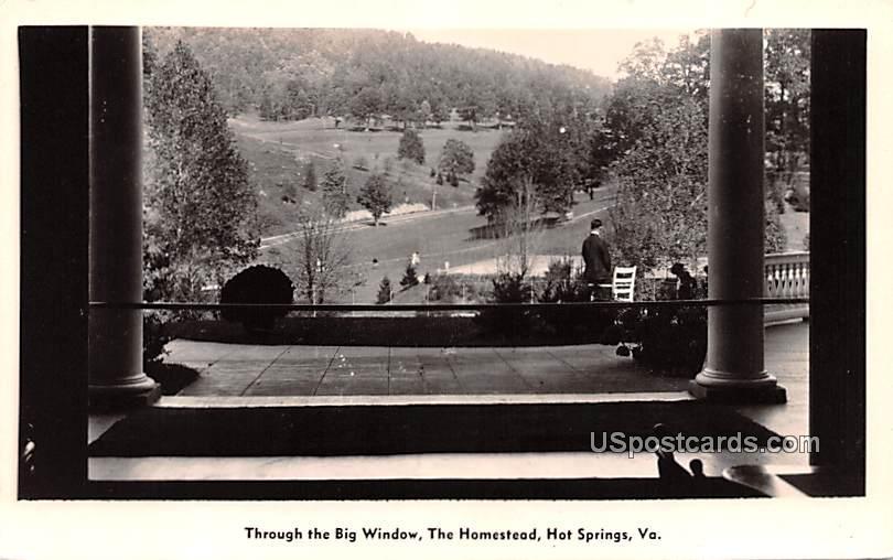 Through the Big Window - Hot Springs, Virginia VA Postcard