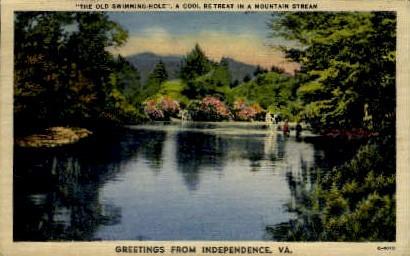 A Mountain Stream - Independence, Virginia VA Postcard