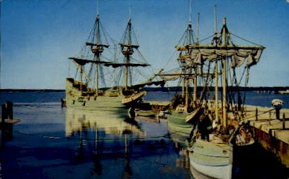 The Three Ships - Jamestown, Virginia VA Postcard