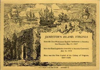 Jamestown Island, Virginia Postcard