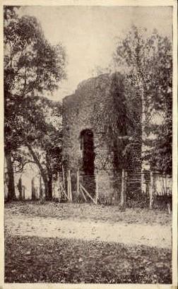 Old Church Tower - Jamestown Island, Virginia VA Postcard
