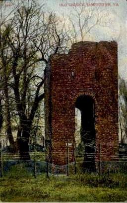 Old Church - Jamestown, Virginia VA Postcard
