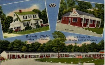 Jarratt Motel - Virginia VA Postcard