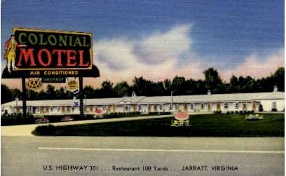 Colonial Motel - Jarratt, Virginia VA Postcard