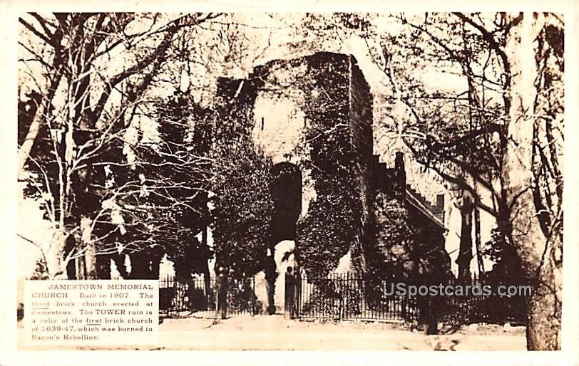 Jamestown Memorial Church - Virginia VA Postcard