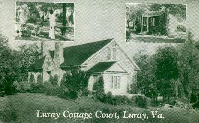 Luray Cottage Court - Virginia VA Postcard