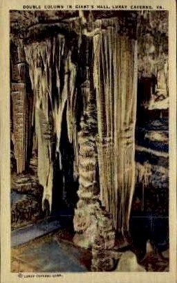 Double Column In Giant's Hall  - Luray, Virginia VA Postcard