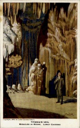 Titania's Veil - Luray, Virginia VA Postcard