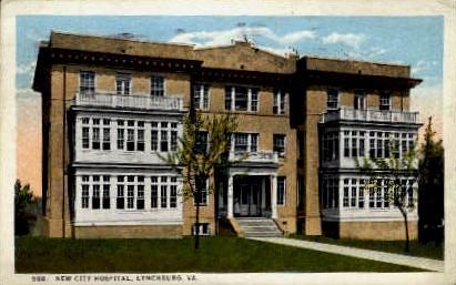 New City Hospital - Lynchburg, Virginia VA Postcard
