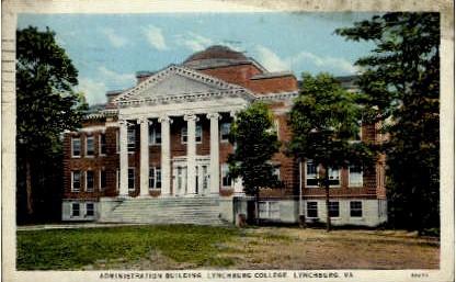 Administration Building - Lynchburg, Virginia VA Postcard