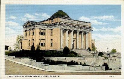 Jones Memorial  - Lynchburg, Virginia VA Postcard