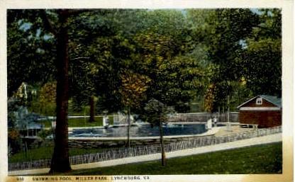 Miller Park Swimming Pool - Lynchburg, Virginia VA Postcard