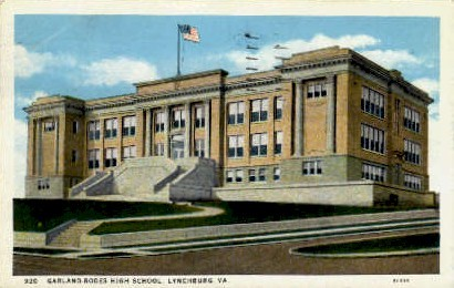 Garland-Rodes High School - Lynchburg, Virginia VA Postcard