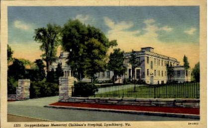 Guggenheimer Memorial Hospital - Lynchburg, Virginia VA Postcard