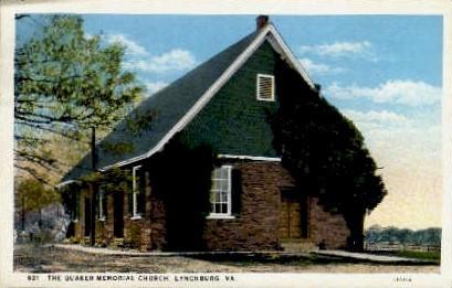 The Quaker Memorial Church - Lynchburg, Virginia VA Postcard