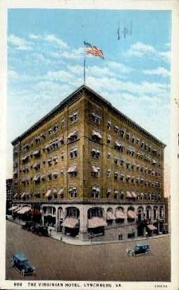 The Virginia Hotel - Lynchburg Postcard