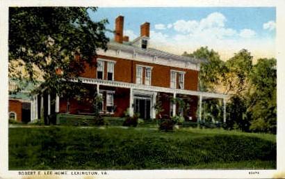 Robert  E. Lee Home - Lexington, Virginia VA Postcard