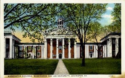 Washington Building - Lexington, Virginia VA Postcard