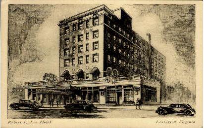 Robert E. Lee Hotel - Lexington, Virginia VA Postcard