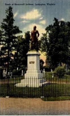 Tomb Of Stonewell Jackson - Lexington, Virginia VA Postcard