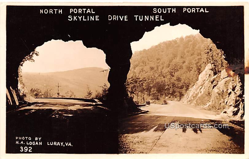 North Portal & South Portal - Luray, Virginia VA Postcard