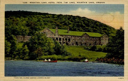The Mountain Lake Hotel - Virginia VA Postcard