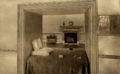 Alcove Bed - Monticello, Virginia VA Postcard