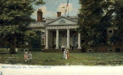 Home Of Thomas Jefferson - Monticello, Virginia VA Postcard