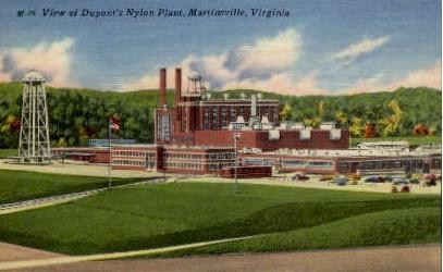 Dupont's Nylon Plant - Martinsville, Virginia VA Postcard