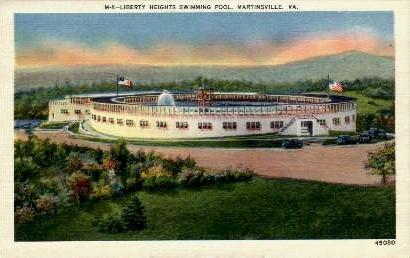 Libert Heights Swimming Pool - Martinsville, Virginia VA Postcard