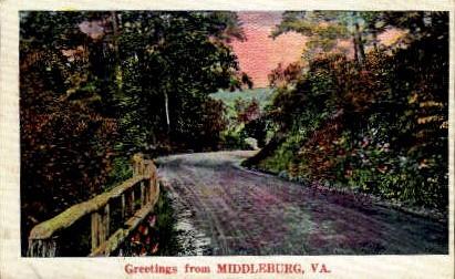 Greetings From - Middleburg, Virginia VA Postcard