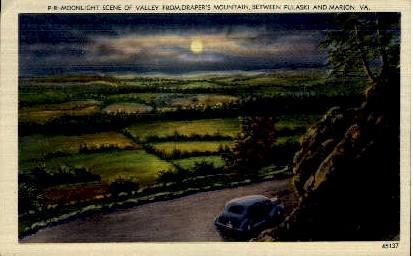 Drappers Mountain - Marion, Virginia VA Postcard