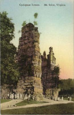Cyclopean Towers - Mount Solon, Virginia VA Postcard