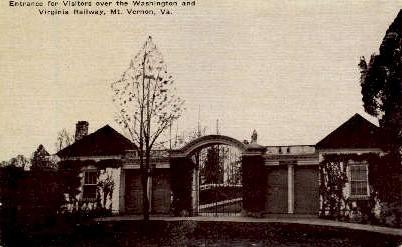 Virginia Railway - Mount Vernon Postcard