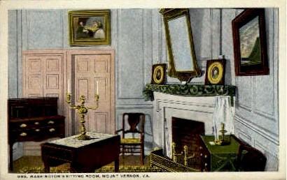 Martha Washington's Sitting Room - Mount Vernon, Virginia VA Postcard
