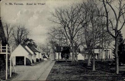 Road To Wharf - Mount Vernon, Virginia VA Postcard