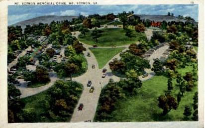 Memorial Drive - Mount Vernon, Virginia VA Postcard