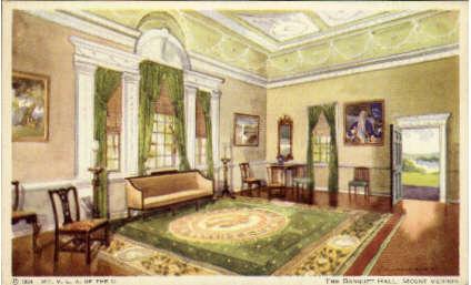 Third Banquet Hall - Mount Vernon, Virginia VA Postcard