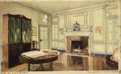 The Library At Mt. Vernon - Mount Vernon, Virginia VA Postcard