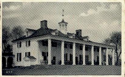 George Washington's Home - Mount Vernon, Virginia VA Postcard