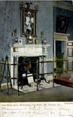 State Dining Room in Washington's Home - Mount Vernon, Virginia VA Postcard