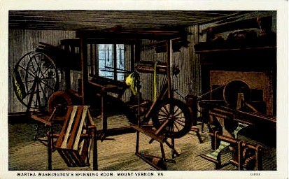 Martha Washington's Spinning Room - Mount Vernon, Virginia VA Postcard