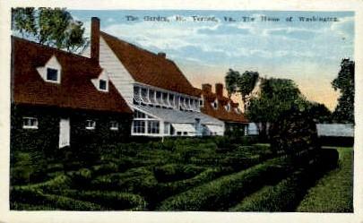 The Garden - Mount Vernon, Virginia VA Postcard