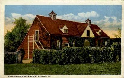 Washington's Barn - Mount Vernon, Virginia VA Postcard