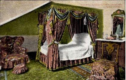 Martha Washington's Bedroom - Mount Vernon, Virginia VA Postcard