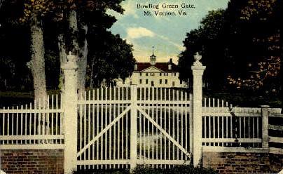 Bowling Green Gate - Mount Vernon, Virginia VA Postcard