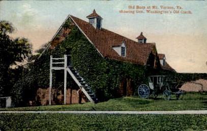 Old Barn - Mount Vernon, Virginia VA Postcard