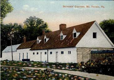 Servants' Quarters - Mount Vernon, Virginia VA Postcard
